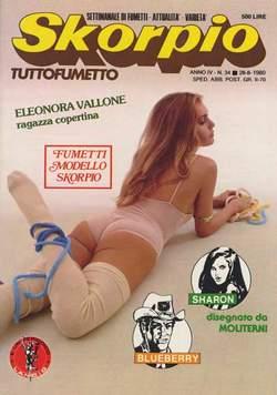 Copertina SKORPIO ANNO  4 n.34 - SKORPIO 1980            34, EDITORIALE AUREA