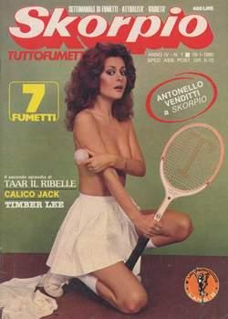Copertina SKORPIO ANNO  4 n.1 - SKORPIO 1980             1, EDITORIALE AUREA