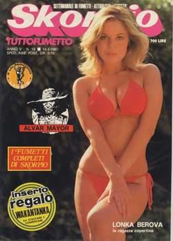 Copertina SKORPIO ANNO  5 n.19 - SKORPIO 1981            19, EDITORIALE AUREA