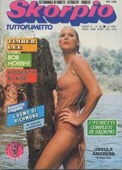 Copertina SKORPIO ANNO  5 n.26 - SKORPIO 1981            26, EDITORIALE AUREA