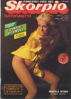 Copertina SKORPIO ANNO  5 n.30 - SKORPIO 1981            30, EDITORIALE AUREA