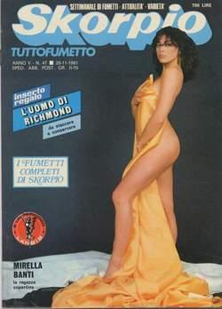 Copertina SKORPIO ANNO  5 n.47 - SKORPIO 1981            47, EDITORIALE AUREA