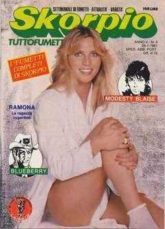 Copertina SKORPIO ANNO  5 n.4 - SKORPIO 1981             4, EDITORIALE AUREA