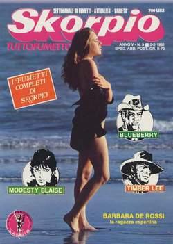 Copertina SKORPIO ANNO  5 n.5 - SKORPIO 1981             5, EDITORIALE AUREA