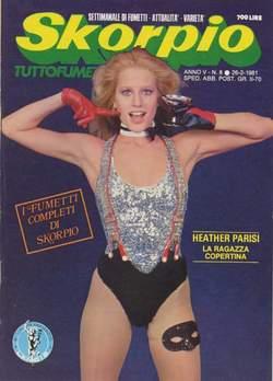Copertina SKORPIO ANNO  5 n.8 - SKORPIO 1981             8, EDITORIALE AUREA