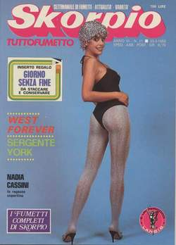 Copertina SKORPIO ANNO  6 n.11 - SKORPIO 1982            11, EDITORIALE AUREA