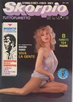 Copertina SKORPIO ANNO  6 n.25 - SKORPIO 1982            25, EDITORIALE AUREA