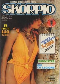 Copertina SKORPIO ANNO  6 n.38 - SKORPIO 1982            38, EDITORIALE AUREA