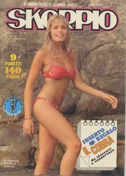 Copertina SKORPIO ANNO  6 n.40 - SKORPIO 1982            40, EDITORIALE AUREA