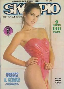Copertina SKORPIO ANNO  6 n.45 - SKORPIO 1982            45, EDITORIALE AUREA