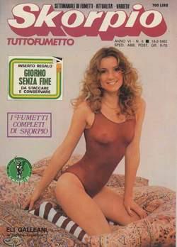 Copertina SKORPIO ANNO  6 n.6 - SKORPIO 1982             6, EDITORIALE AUREA