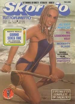 Copertina SKORPIO ANNO  6 n.8 - SKORPIO 1982             8, EDITORIALE AUREA