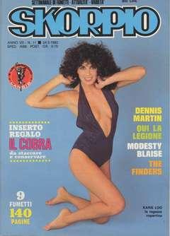 Copertina SKORPIO ANNO  7 n.11 - SKORPIO 1983            11, EDITORIALE AUREA
