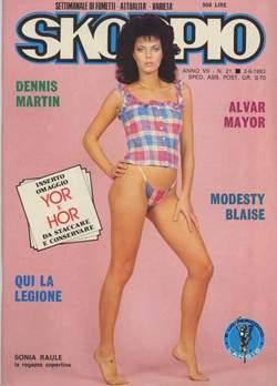 Copertina SKORPIO ANNO  7 n.21 - SKORPIO 1983            21, EDITORIALE AUREA