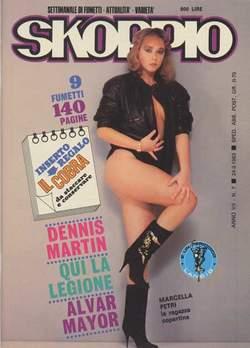 Copertina SKORPIO ANNO  7 n.7 - SKORPIO 1983             7, EDITORIALE AUREA