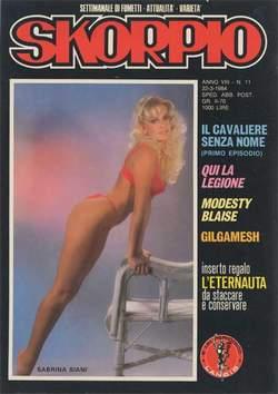 Copertina SKORPIO ANNO  8 n.11 - SKORPIO 1984            11, EDITORIALE AUREA