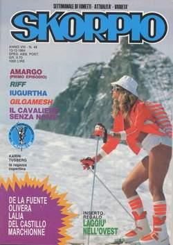 Copertina SKORPIO ANNO  8 n.49 - SKORPIO 1984            49, EDITORIALE AUREA