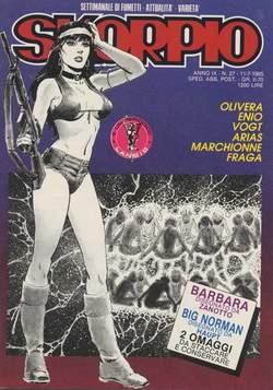 Copertina SKORPIO ANNO  9 n.27 - SKORPIO 1985            27, EDITORIALE AUREA