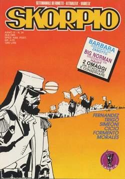Copertina SKORPIO ANNO  9 n.34 - SKORPIO 1985            34, EDITORIALE AUREA