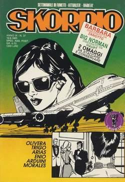 Copertina SKORPIO ANNO  9 n.37 - SKORPIO 1985            37, EDITORIALE AUREA