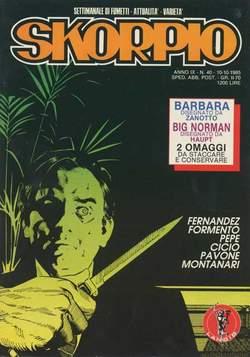 Copertina SKORPIO ANNO  9 n.40 - SKORPIO 1985            40, EDITORIALE AUREA