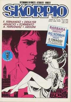 Copertina SKORPIO ANNO  9 n.50 - SKORPIO 1985            50, EDITORIALE AUREA