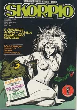 Copertina SKORPIO ANNO  9 n.51 - SKORPIO 1985            51, EDITORIALE AUREA
