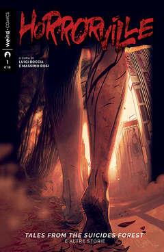 Copertina HORRORVILLE n.1 - RACCONTI DALLA FORESTA DEL SUICIDIO E ALTRE STORIE, EDITORIALE WEIRD BOOK