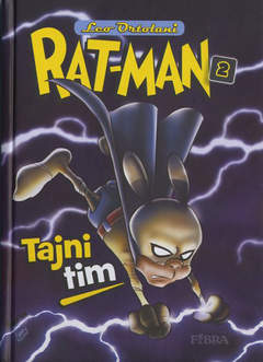 Copertina RAT-MAN IN CROATO CARTONATO n.2 - TAJNI TIM, FIBRA NAKLADA