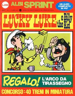 Copertina ALBI SPRINT n.2 - 1970-LUCKY LUKE E BILLY THE KID, FRATELLI CRESPI
