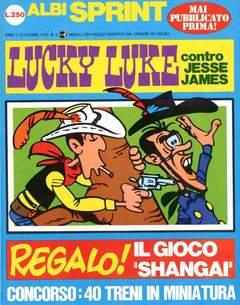 Copertina ALBI SPRINT n.5 - 1970-LUCKY LUKE CONTRO JESSIE JAMES, FRATELLI CRESPI