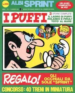 Copertina ALBI SPRINT n.3 - 1970-IL LADRO DI PUFFI ROLANDO E PIRULI', FRATELLI CRESPI