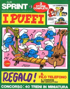 Copertina ALBI SPRINT n.6 - 1970-PUFFONIA-COMBRICCOLA E CAIMANI, FRATELLI CRESPI