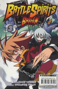 Copertina BATTLE SPIRITS BASHIN (m4) n.3 - BATTLE SPIRITS BASHIN, GP PUBLISHING