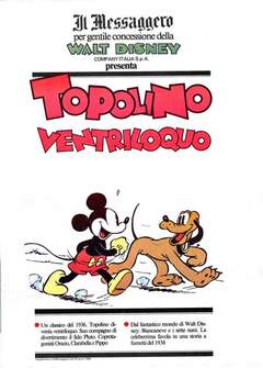 Copertina TOPOLINO SUPPLEM. MESSAGGERO n.10 - TOPOLINO SUPPLEM. MESSAGG   10, IL MESSAGGERO