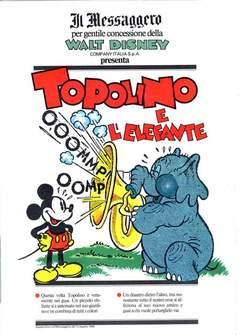Copertina TOPOLINO SUPPLEM. MESSAGGERO n.30 - TOPOLINO SUPPLEM. MESSAGG   30, IL MESSAGGERO