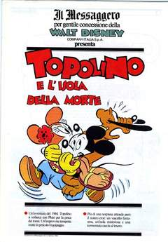 Copertina TOPOLINO SUPPLEM. MESSAGGERO n.56 - TOPOLINO SUPPLEM. MESSAGG   56, IL MESSAGGERO