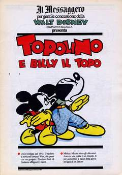 Copertina TOPOLINO SUPPLEM. MESSAGGERO n.59 - TOPOLINO SUPPLEM. MESSAGG   59, IL MESSAGGERO