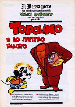 Copertina TOPOLINO SUPPLEM. MESSAGGERO n.77 - TOPOLINO SUPPLEM. MESSAGG   77, IL MESSAGGERO