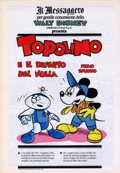 Copertina TOPOLINO SUPPLEM. MESSAGGERO n.82 - TOPOLINO SUPPLEM. MESSAGG   82, IL MESSAGGERO