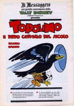 IL MESSAGGERO - TOPOLINO SUPPLEM. MESSAGGERO