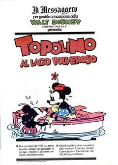 Copertina TOPOLINO SUPPLEM. MESSAGGERO n.5 - TOPOLINO SUPPLEM. MESSAGG    5, IL MESSAGGERO
