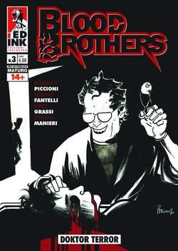 Copertina BLOOD BROTHERS n.3 - DOKTOR TERROR, INKIOSTRO EDIZIONI