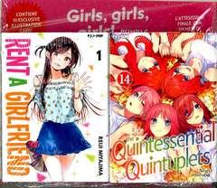 Copertina GIRLS GIRLS GIRLS BUNDLE n. - RENT A GIRLFRIEND 1 + QUINTESSENTIAL QUINT. 14, JPOP