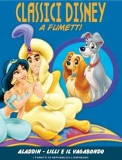 Copertina CLASSICI DISNEY A FUMETTI n.11 - Aladdin - Lilli e il Vagabondo, L'ESPRESSO