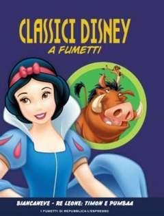 Copertina CLASSICI DISNEY A FUMETTI n.4 - Biancaneve - Il Re Leone: Timon & Pumbaa, L'ESPRESSO