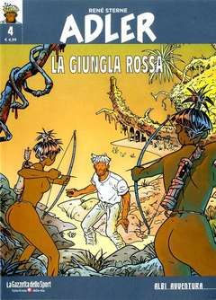 Copertina ADLER n.4 - LA GIUNGLA ROSSA, LA GAZZETTA DELLO SPORT