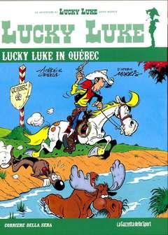 Copertina LUCKY LUKE Cartonato n.71 - LUCKY LUKE IN QUEBEC, LA GAZZETTA DELLO SPORT