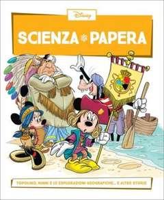 Copertina SCIENZA PAPERA n.25 - Topolino, Minni e le esplorazioni geografiche  e altre storie, LA GAZZETTA DELLO SPORT