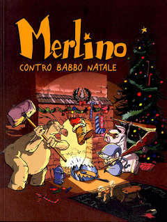 Copertina MERLINO n.2 - CONTRO BABBO NATALE, LOGOS